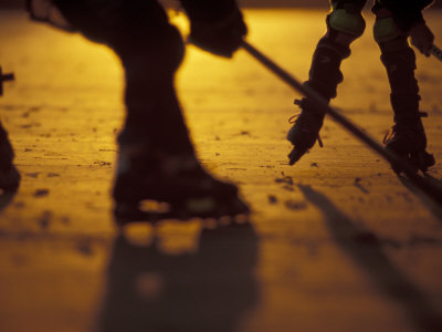 Street Hockey Photographic Print by Lee Kopfler