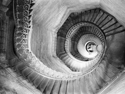 Traboule Staircase, Lyon, France Photographic Print by Walter Bibikow