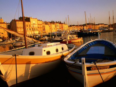Boats at Port, St. Tropez, France Photographic Print by Barbara Van Zanten