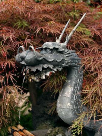 Dragon Head, Chingo-Do-Ji Temple, Asakusa, Tokyo, Japan Photographic Print by Greg Elms