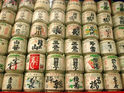 Sake Casks Near Meji Jingu Shrine, Tokyo, Japan Photographic Print by Greg Elms