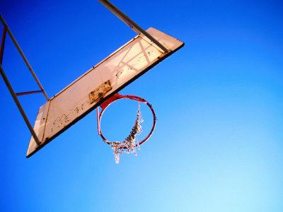 Worn Basketball Hoop, Copenhagen, Denmark Photographic Print by Martin Lladó