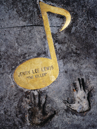 Jerry Lee Lewis Walk of Fame Note in Footpath on Beale Street, Memphis, United States of America Photographic Print by Richard I'Anson