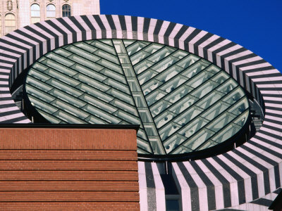 Detail of Museum of Modern Art's Exterior, San Francisco, USA Photographic Print by John Elk III