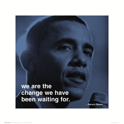 Barack Obama: change Reproduction d'art