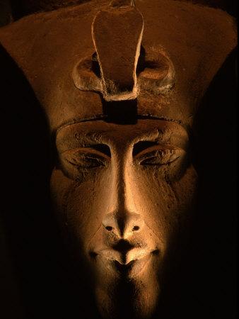 Akhenaten Statue, Pharaohs of the Sun, Luxor Museum, Amarna, Egypt Fotoprint av Kenneth Garrett