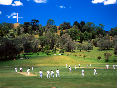 Cornwall Cricket Club, Auckland, New Zealand Photographic Print by David Wall