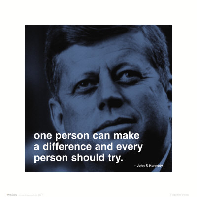 JFK: Make a Difference Kunstdruk