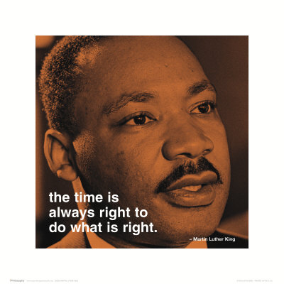 Martin Luther King, Jr. : right Reproduction d'art