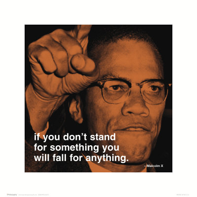 Malcolm X : stand Reproduction d'art