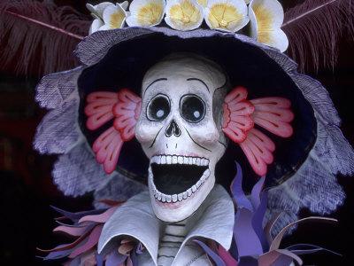 Corazon Del Pueblo Folk Art Store, Day of the Dead, Oaxaca, Mexico Photographic Print by Judith Haden
