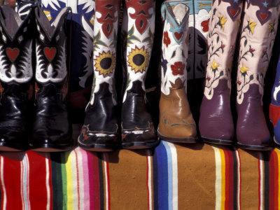Cowboy Boots Detail, Santa Fe, New Mexico, USA Photographic Print by Judith Haden