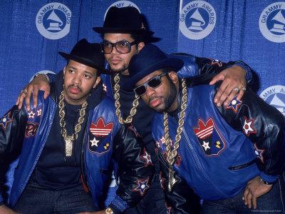 Rap Group Run DMC at the Grammys Joe Simmons, Darryl McDaniels and Jason Mizell Metal Print by David Mcgough