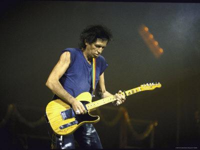 Musician Keith Richards Performing Metal Print by David Mcgough