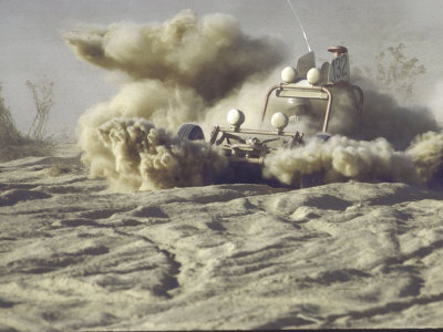 "Car and Driver Struggling in Talcum-like Dust During Mint 400 ""Off the Road"" Race Across the Desert Photographic Print by Bill Eppridge"