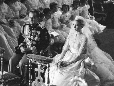 Wedding of Prince Rainier of Monaco to American Actress Grace Kelly Metal Print by Thomas D. Mcavoy