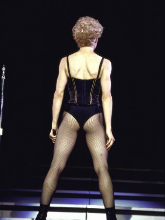 Singer Madonna Performing, Back to Camera Premium Photographic Print by David Mcgough