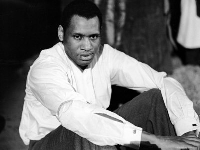 Singer and Actor Paul Robeson Sitting and Resting Arms on Knees. Circa 1940 Premium Photographic Print by Alfred Eisenstaedt