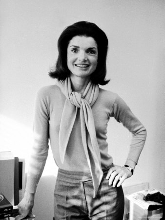 Jacqueline Kennedy Onassis in Her Office at Viking Press Premium ...