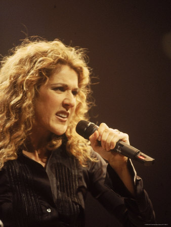 Singer Celine Dion Performing Metal Print by Dave Allocca