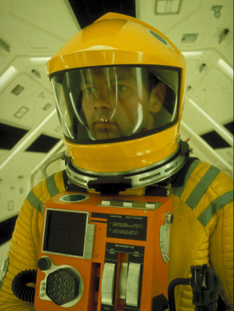 """Close Up Portrait of Actor in Astronaut Suit on the Set of the Movie """"2001: A Space Odyssey"""" Metal Print by Dmitri Kessel"""