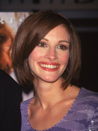 """Actress Julia Roberts at Premiere of Her Film """"My Best Friend's Wedding"""" Metal Print by Dave Allocca"""