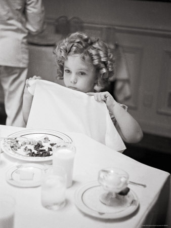 Child Actress Shirley Temple Celebrating Her Eighth Birthday on 20th Century Fox Lot Metal Print by Alfred Eisenstaedt