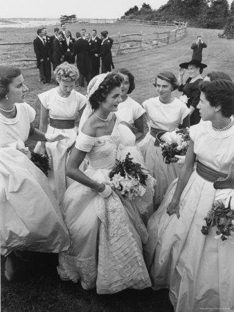 Jacqueline Bouvier Bride of Sen John F Kennedy Wearing Gorgeous Off