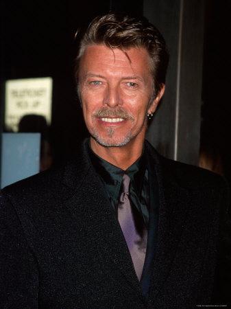 "Musician David Bowie at Film Premiere Of ""Meet Joe Black"" Metal Print by Dave Allocca"