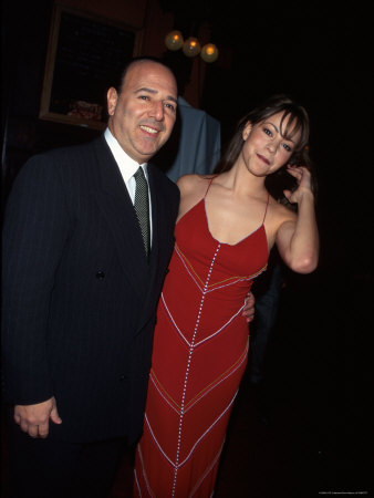 Record Executive Tommy Mottola and Wife, Singer Mariah Carey Metal Print by Dave Allocca