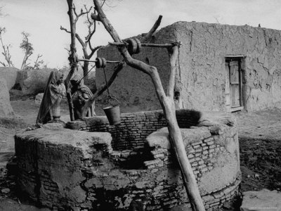Primitive Village in Punjabi, Primitive Settlements Will Give Place to Capital City of Chandigarh Photographic Print by James Burke