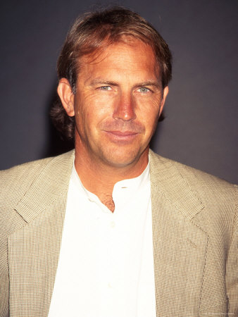 """Actor Kevin Costner at Film Premiere of His """"Tin Cup"""" Metal Print by Dave Allocca"""