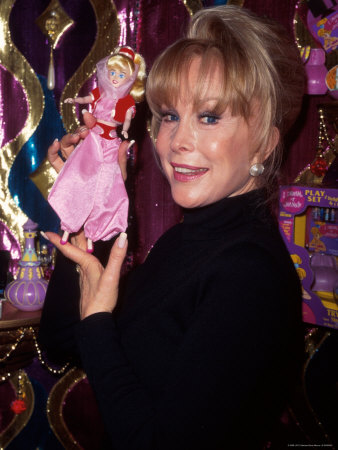 Actress Barbara Eden Holding Up Jeannie Doll Metal Print by Dave Allocca