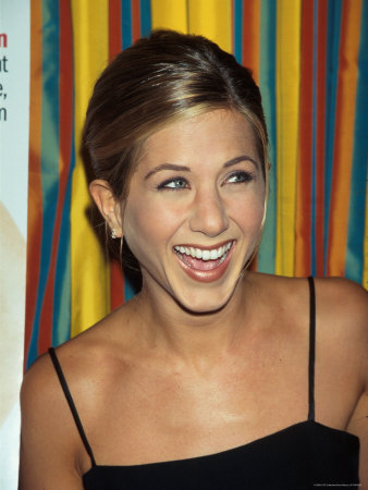 Actress Jennifer Aniston at Cosmopolitan Magazine Party Metal Print by Dave Allocca