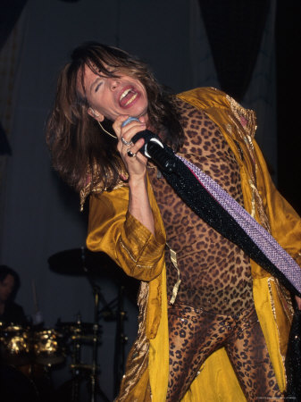 Musician Steven Tyler Performing Metal Print by Dave Allocca