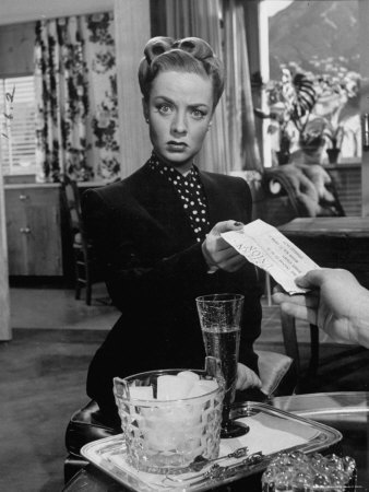 "Actress Audrey Totter in Scene from Film ""Lady in the Lake"" Metal Print by Martha Holmes"
