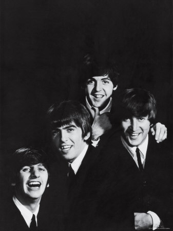 Ringo Starr, George Harrison, Paul McCartney and John Lennon of the English Rock Group the Beatles Metal Print by John Dominis