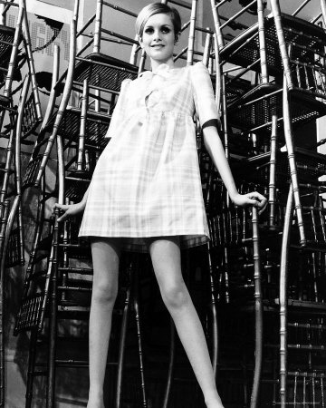 Twiggy model photo poster