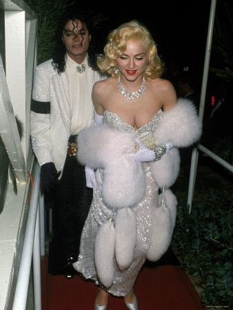 Photo of Pop Stars Michael Jackson and Madonna Attending Event