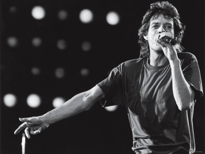 Rolling Stones Lead Singer Mick Jagger Performing at the Live Aid Concert Premium Photographic Print