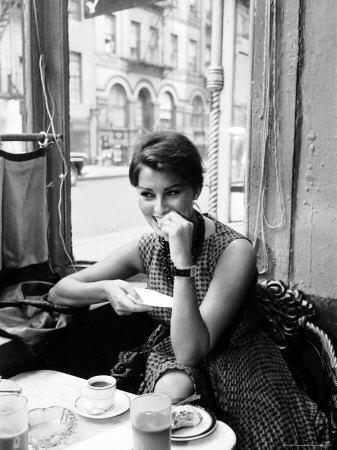 Sophia Loren Kunst op metaal van Peter Stackpole