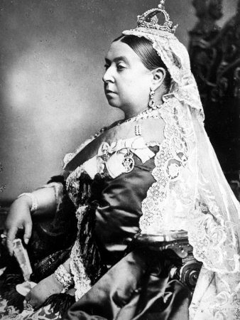Queen Victoria Wearing the Small Imperial Crown to Mark Her 66th Birthday Premium Photographic Print