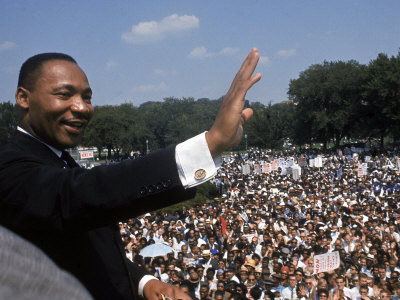 """Dr. Martin Luther King Jr. Giving """"I Have a Dream"""" Speech During the March on Washington Metal Print by Francis Miller"""