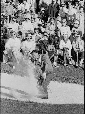 Golf Player Arnold Palmer, Blowing His Lead on the 18th Hole in the Master's Golf Tournament Premium Photographic Print by George Silk