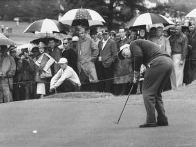 Jack Nicklaus During the Master Golf Tournament Premium Photographic Print by George Silk