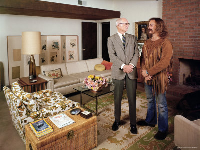 David Crosby Standing with Father Floyd in Father's House Metal Print by John Olson