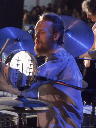 Drummer Ginger Baker of the Band Blind Faith in Concert at the Los Angeles Forum Premium Photographic Print by John Olson