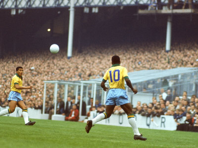 Soccer Star Pele in Action During World Cup Competition Premium Photographic Print by Art Rickerby