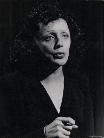 Edith Piaf Premium Photographic Print by Gjon Mili