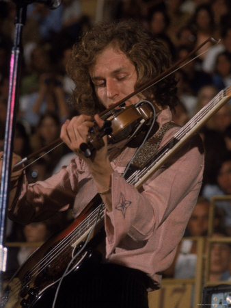 """Electric Violinist Rick Grech from the Group """"Blind Faith."""" Metal Print by John Olson"""
